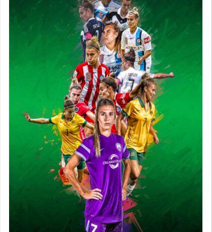 Steph Catley (From Melbourne Victory to Orlando Pride + The Matildas) Sticker