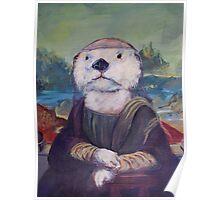 Mona Lisa Otter Poster