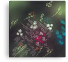 Floral life explosion - dark Canvas Print