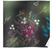 Floral life explosion - dark Poster
