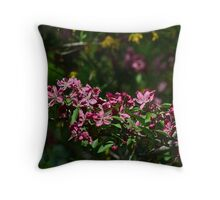 Pink Crabapple 12 Throw Pillow