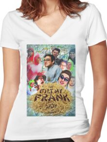Filthy Frank - King of Filth (Distressed) Women's Fitted V-Neck T-Shirt