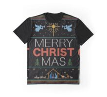 Ugly Christmas Sweater - Knit by Granny - Merry Christ Mas - Religious Christian Graphic T-Shirt
