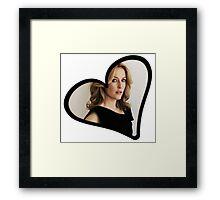 Gillian Anderson Heart Framed Print