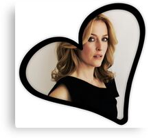Gillian Anderson Heart Canvas Print