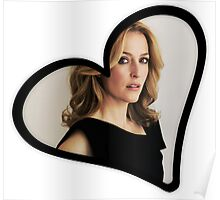 Gillian Anderson Heart Poster