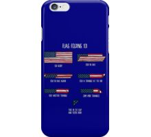 Flag Folding 101 iPhone Case/Skin
