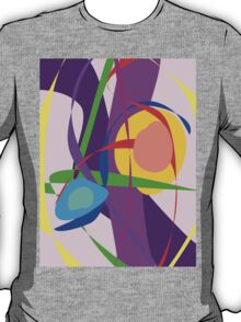 Free Forms and Lines Pink Purple Abstract Painting T-Shirt