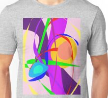Free Forms and Lines Pink Purple Abstract Painting Unisex T-Shirt