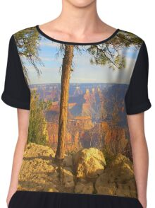 """Between The Trees"" Chiffon Top"