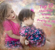 """Banner for Pretty in Pink Group ~ Challenge ~ """"Sisters"""" by Susan Werby"""