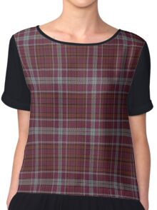 02729 Horry County, South Carolina Fashion Tartan Chiffon Top