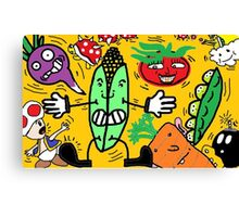 Fruits and Nintendo Canvas Print
