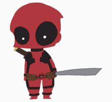 Chibi Deadpool by MooseWinchester