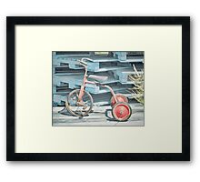The Joy of Tricycles  Framed Print