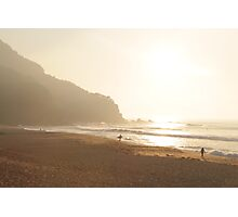 A Golden Early Morning Surf Photographic Print