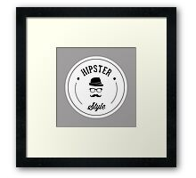 Hipster Style Rounded Framed Print