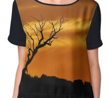 Sunset Silhouette Chiffon Top
