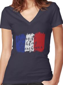 Fighting French Women's Fitted V-Neck T-Shirt