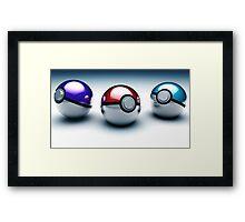 Pokéball Framed Print