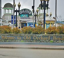 Welcome to Old Orchard Beach  Maine Usa by jeanlphotos