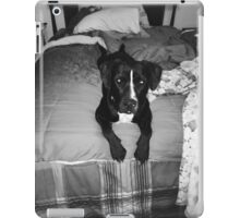 Nela on bed gray scale  iPad Case/Skin