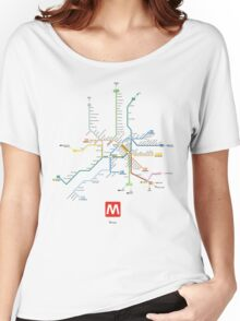 rome subway Women's Relaxed Fit T-Shirt