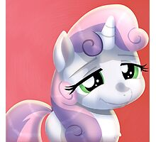 Cute Sweetie Belle Photographic Print