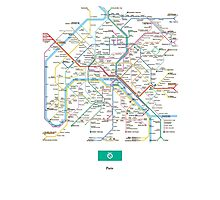 paris subway Photographic Print