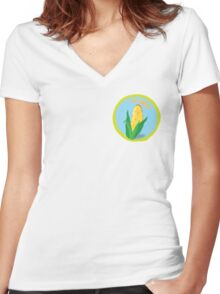 Aw Shucks Women's Fitted V-Neck T-Shirt