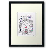 Shanti on my mind Framed Print