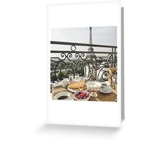 Paris - Eiffel Tower Breakfast View Greeting Card