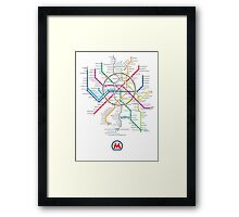 moscow subway Framed Print