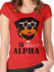 Geeky Alpha Women's Fitted Scoop T-Shirt