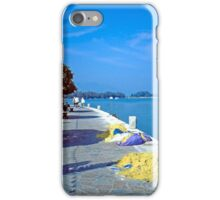 Seafront with Yellow Nets, Island of Hydra, Greece iPhone Case/Skin