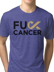 Martin Garrix - Fu*k Cancer White Tri-blend T-Shirt