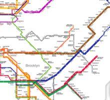 new york subway Sticker