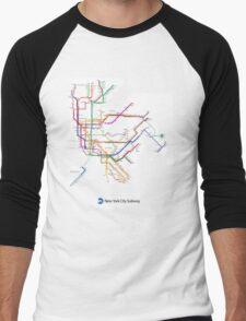new york subway Men's Baseball ¾ T-Shirt
