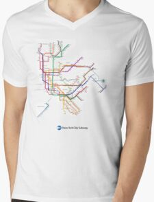 new york subway Mens V-Neck T-Shirt