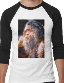 Aboriginal fullblood portrait Men's Baseball ¾ T-Shirt