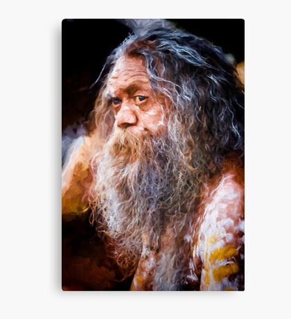 Aboriginal fullblood portrait Canvas Print