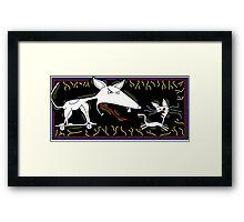 Dog Chasing Cat Framed Print