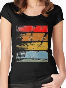retro wood Women's Fitted Scoop T-Shirt
