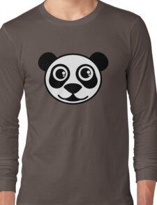 Panda Bear Face  Long Sleeve T-Shirt