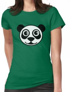 Panda Bear Face  Womens Fitted T-Shirt
