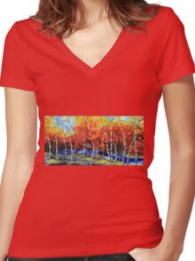 Poetry in motion Women's Fitted V-Neck T-Shirt