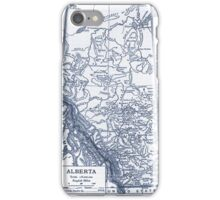 Alberta Canada Map iPhone Case/Skin