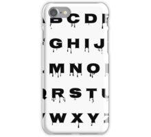 Alphabet - Spooky iPhone Case/Skin