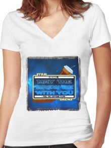 May the Brew be with You (Feel the Caffeine Flow)- The Coffee Wars - Jeronimo Rubio Photography and Art 2016 Women's Fitted V-Neck T-Shirt
