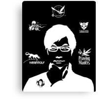 Hideo Kojima Metal Gear - Black Canvas Print